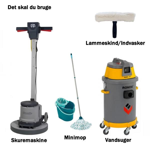 udstyr til polishbehandling af linoleumsgulve